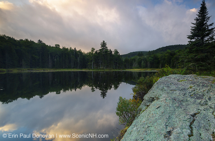 Atwood Pond along Sandwich Notch Road in Sandwich, New Hampshire during the summer months.