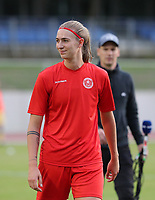 Marie Bougard (10) of Woluwe at the warm up before a female soccer game between FC Femina White Star Woluwe and Club Brugge YLA on the second matchday in the 2021 - 2022 season of Belgian Scooore Womens Super League , Friday 27 th of August 2021  in Woluwe , Belgium . PHOTO SPORTPIX | SEVIL OKTEM
