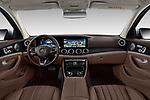 Stock photo of straight dashboard view of 2017 Mercedes Benz E-Class All-Terrain 5 Door Wagon Dashboard