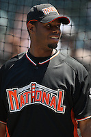 SAN FRANCISCO - JULY 9: Ken Griffey Jr. of the New York Mets and the National League takes batting practice during the All Star Game festivities at AT&T Park in San Francisco, California on July 9, 2007. Photo by Brad Mangin