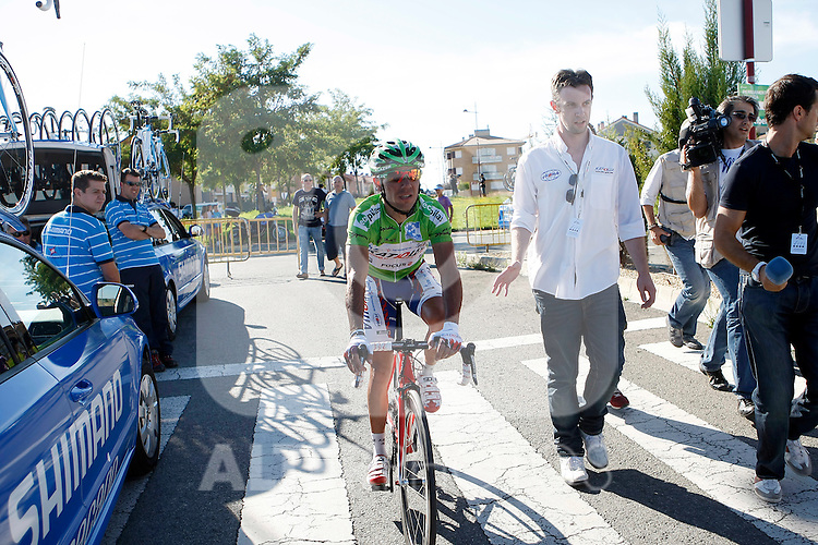 Joaquin Rodriguez injured during during the stage of La Vuelta 2011 between Villa Romana La Olmeda and Haro.September 6,2011. (ALTERPHOTOS/Acero)