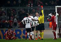 20.02.2018, Allianz Arena, Muenchen, GER, UEFA CL, FC Bayern Muenchen (GER) vs Besiktas Istanbul (TR) , <br />referee Ovidiu Hategan   Domagoj Vida (Istanbul) red card<br /><br /><br /> *** Local Caption *** © pixathlon<br /> Contact: +49-40-22 63 02 60 , info@pixathlon.de