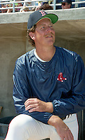 Boston Red Sox pitcher Frank Viola during Spring Training 1993 at City of Palms Park in Fort Myers, Florida.  (MJA/Four Seam Images)