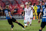 Bayern Munich Midfielder Niklas Dorsch (R) in action against FC Internazionale Midfielder Joao Mario (L) during the International Champions Cup match between FC Bayern and FC Internazionale at National Stadium on July 27, 2017 in Singapore. Photo by Marcio Rodrigo Machado / Power Sport Images