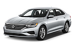 2020 Volkswagen Passat SE 4 Door Sedan Angular Front automotive stock photos of front three quarter view