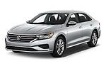 2020 Volkswagen Passat SE 4 Door Sedan Angular Front automotive stock photos of front three quarter view