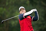 Pan Yanhong of China tees off the 14th hole during Round 2 of the World Ladies Championship 2016 on 11 March 2016 at Mission Hills Olazabal Golf Course in Dongguan, China. Photo by Victor Fraile / Power Sport Images