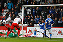 Francis Zoko of Stevenage scores the opening goal<br />  - Stevenage v Portsmouth - FA Cup 1st Round  - Lamex Stadium, Stevenage - 9th November, 2013<br />  © Kevin Coleman 2013
