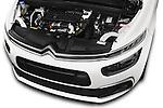 Car Stock 2016 Citroen Grand-C4-Picasso Shine 5 Door Mini MPV Engine  high angle detail view