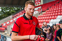 Cian Bolger arriving at the game during the Sky Bet League 1 match between Fleetwood Town and Bradford City at Highbury Stadium, Fleetwood, England on 1 September 2018. Photo by Stephen Buckley / PRiME Media Images.