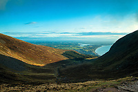 Dundrum Bay from Slieve Donard, Mourne Mountains, Newcastle, County Down