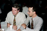 Montreal (Qc) CANADA - May 17 1998<br /> -File Photo -<br /> <br /> Jean Dore , RCM Leader  (L) and municipal candidate Martin Lemay (R).<br /> <br /> Martin Lemay (born March 19, 1964 in Amos, Quebec) is a politician in Quebec, Canada. He is the Parti Québécois (PQ) Member of the National Assembly (MNA) for Sainte-Marie—Saint-Jacques in the National Assembly of Quebec