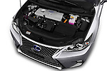 Car stock 2018 Lexus CT Executive Line 5 Door Hatchback engine high angle detail view