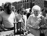 june 17, 1986 file photo -<br /> Jeanne sauve celebrate the 150th anniversary of train in Canada in Saint-Jean-sur Richelieu