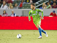 CARSON, CA - August 25, 2012: Seattle midfielder Christian Tiffert (13) during the Chivas USA vs Seattle Sounders match at the Home Depot Center in Carson, California. Final score, Chivas USA 2, Seattle Sounders 6.