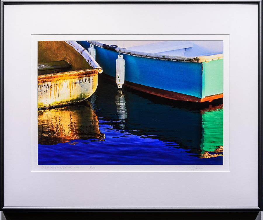 """Framed Size 16""""h x 20""""w, $400<br /> Graphite Nielsen 15 metal frame"""