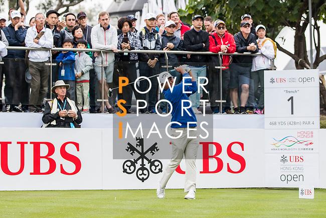 Danny Chia of Malaysia tees off during the day three of UBS Hong Kong Open 2017 at the Hong Kong Golf Club on 25 November 2017, in Hong Kong, Hong Kong. Photo by Yu Chun Christopher Wong / Power Sport Images