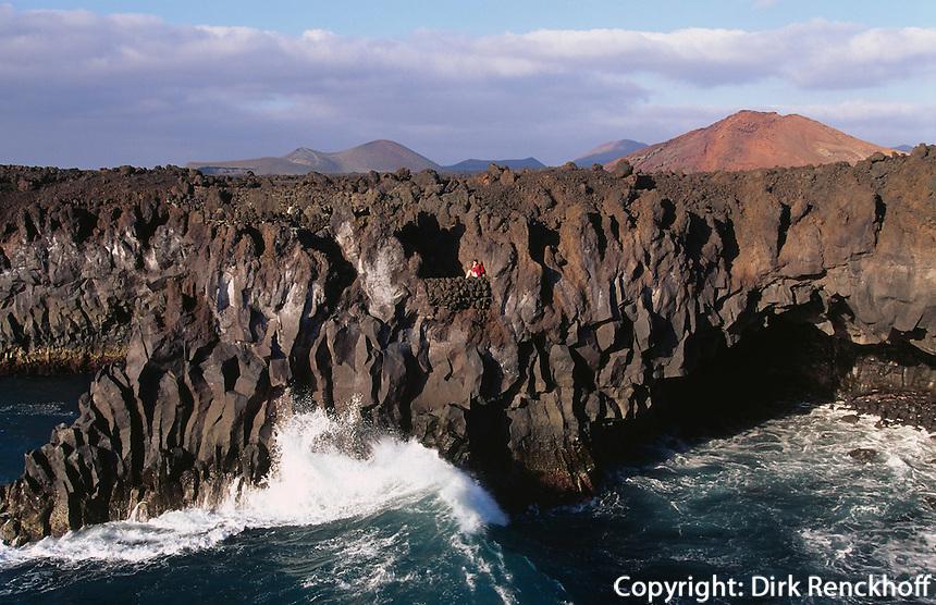 Küste von los Hervideros, Lanzarote, kanarische Inseln, Spanien