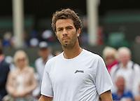 01-07-13, England, London,  AELTC, Wimbledon, Tennis, Wimbledon 2013, Day seven, Jean-Julien Rojer (NED)<br /> <br /> <br /> <br /> Photo: Henk Koster