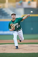 Charlotte 49ers starting pitcher Matt Horkey (22) delivers a pitch to the plate against the Georgia Bulldogs at BB&T Ballpark on March 8, 2016 in Charlotte, North Carolina. The 49ers defeated the Bulldogs 15-4. (Brian Westerholt/Four Seam Images)