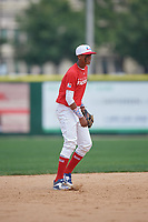 Moises Ramirez (8) during the Dominican Prospect League Elite Underclass International Series, powered by Baseball Factory, on August 2, 2017 at Silver Cross Field in Joliet, Illinois.  (Mike Janes/Four Seam Images)