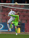 Ayr Utd's Mark Shankland scores their late goal.