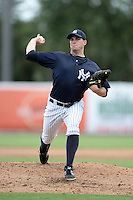 New York Yankees pitcher Danny Burawa (17) during an Instructional League game against the Toronto Blue Jays on September 24, 2014 at George M. Steinbrenner Field in Tampa, Florida.  (Mike Janes/Four Seam Images)