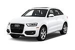 2015 Audi Q3 Premium Plus 5 Door SUV angular front stock photos of front three quarter view