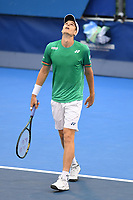 DELRAY BEACH, FLORIDA - JANUARY 13: Hubert Hurkacz of Poland celebrates after defeating Sebastian Korda 6-3 6-3 during the Finals of the Delray Beach Open at Delray Beach Tennis Center on January 13, 2021 in Delray Beach, Florida.. Credit: mpi04/MediaPunch