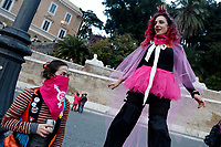 Demonstration of the women in Piazza del Popolo for the elimination of Violence against Women.<br /> Rome (Italy), November 28th 2020<br /> Photo Samantha Zucchi Insidefoto