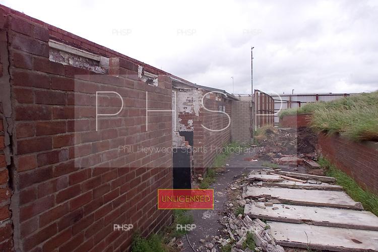 23/06/2000 Blackpool FC Bloomfield Road Ground..Kop rear , visitors entrance...© Phill Heywood.