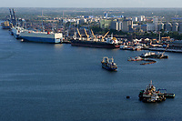 TANZANIA Daressalaam, bay and seaport, ro-ro roll on roll off special vessels for car transport