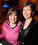 Debbie Pilmer and Barbara Mattsson at the Denton A. Cooley Leadership Award Dinner benefitting Texas Heart Institute at the Hilton American Houston Wednesday Feb. 03,2010.(Dave Rossman Photo)