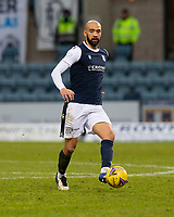 20th February 2021; Dens Park, Dundee, Scotland; Scottish Championship Football, Dundee FC versus Queen of the South; Liam Fontaine of Dundee