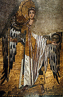 Hagia Sophia:  Archangel Gabriel. N.D., the Bema Arch of the apse (for Christians, Angel of Annunciation and Revealer of Koran. )   Lord Kinross, HAGIA SOPHIA.