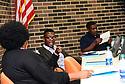 Stanley Celestine, Jr., 20 years old, at a Avoyelles Parish School Board meeting in Marksville, La., Sept. 17, 2017.