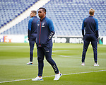 23.10.2019 Rangers press conference , Porto: Alfredo Morelos relaxed as the team check out the Drago Stadium