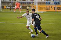 SAN JOSE, CA - SEPTEMBER 5: Cristian Espinoza #10 of the San Jose Earthquakes plays the ball during a game between Colorado Rapids and San Jose Earthquakes at Earthquakes Stadium on September 5, 2020 in San Jose, California.