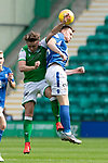 Hibs v St Johnstone….24.08.19      Easter Road     SPFL <br />Liam Craig and Scott Allan<br />Picture by Graeme Hart. <br />Copyright Perthshire Picture Agency<br />Tel: 01738 623350  Mobile: 07990 594431