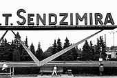 "The T.Sendzimira steel works in Nowa Huta, on the outskirts of Krakow.  Formerly the Lenin Works, it employs 17,000; parts of the massive site have already been sold off.  The rest is being ""commercialised"" in preparation for complete privatisation."