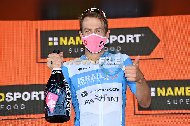 Alex Dowsett (GBR) Israel Start-Up Nation wins Stage 8 of the 103rd edition of the Giro d'Italia 2020 running 200km from Giovinazzo to Vieste, Sicily, Italy. 10th October 2020.  <br /> Picture: LaPresse/Gian Mattia D'Alberto | Cyclefile<br /> <br /> All photos usage must carry mandatory copyright credit (© Cyclefile | LaPresse/Gian Mattia D'Alberto)