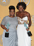 Octavia Spencer and Viola Davis attends the 18th Annual Screen Actors Guild Awards held at The Shrine Auditorium in Los Angeles, California on January 29,2012                                                                               © 2012 Hollywood Press Agency