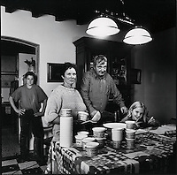 Europe/France/Normandie/Haute-Normandie/76/Seine-Maritime/Pommeréval: Chez Christine et Frédéric Dujardin producteurs de crème normande et produits laitiers
