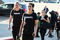 San Diego, CA - Sunday January 21, 2018: Carli Lloyd prior to an international friendly between the women's national teams of the United States (USA) and Denmark (DEN) at SDCCU Stadium.