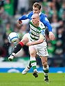 :: CELTIC'S SCOTT BROWN GETS AWAY FROM RANGERS' NIKICA JELAVIC  ::