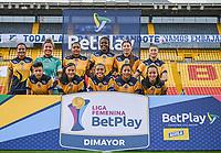 BOGOTA - COLOMBIA, 21-08-2021: Millonarios F.C. y Fortaleza CEIF en partido por la fecha 9 de la Liga Feminina BetPlay DIMAYOR 2021 jugado en el estadio Nemesio Camacho El Campin de la ciudad de Bogotá. / Millonarios F.C. and Fortaleza CEIF in match for the date 9 of the Women's BetPlay DIMAYOR League 2021 played at the Nemesio Camacho El Campin Stadium in Bogota city. Photo: VizzorImage / Samuel Norato / Cont