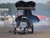 Aug 20, 2017; Brainerd, MN, USA; NHRA top fuel driver Scott Palmer during the Lucas Oil Nationals at Brainerd International Raceway. Mandatory Credit: Mark J. Rebilas-USA TODAY Sports