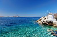 The port of Aegiali in Amorgos island, Greece