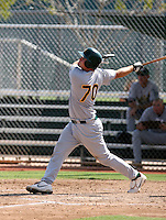 Petey Paramore / Oakland Athletics 2008 Instructional League..Photo by:  Bill Mitchell/Four Seam Images