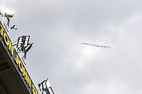20th March 2021; Vicarage Road, Watford, Hertfordshire, England; English Football League Championship Football, Watford versus Birmingham City; A plane flys over Vicarage Road with a message for the Blues owners.
